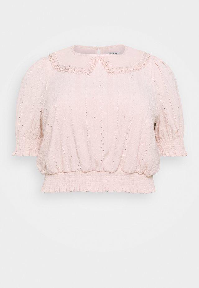 MYLA COLLARED BRODERIE - Print T-shirt - blush