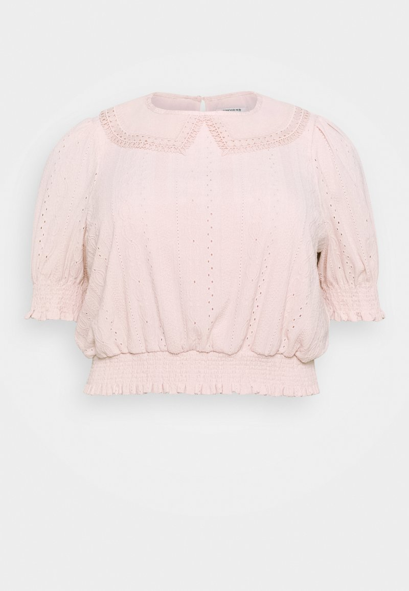 Forever New Curve - MYLA COLLARED BRODERIE - Print T-shirt - blush