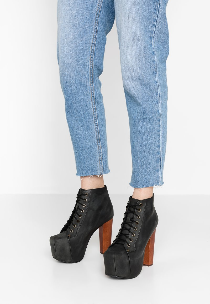 Jeffrey Campbell - Lace-up ankle boots - black