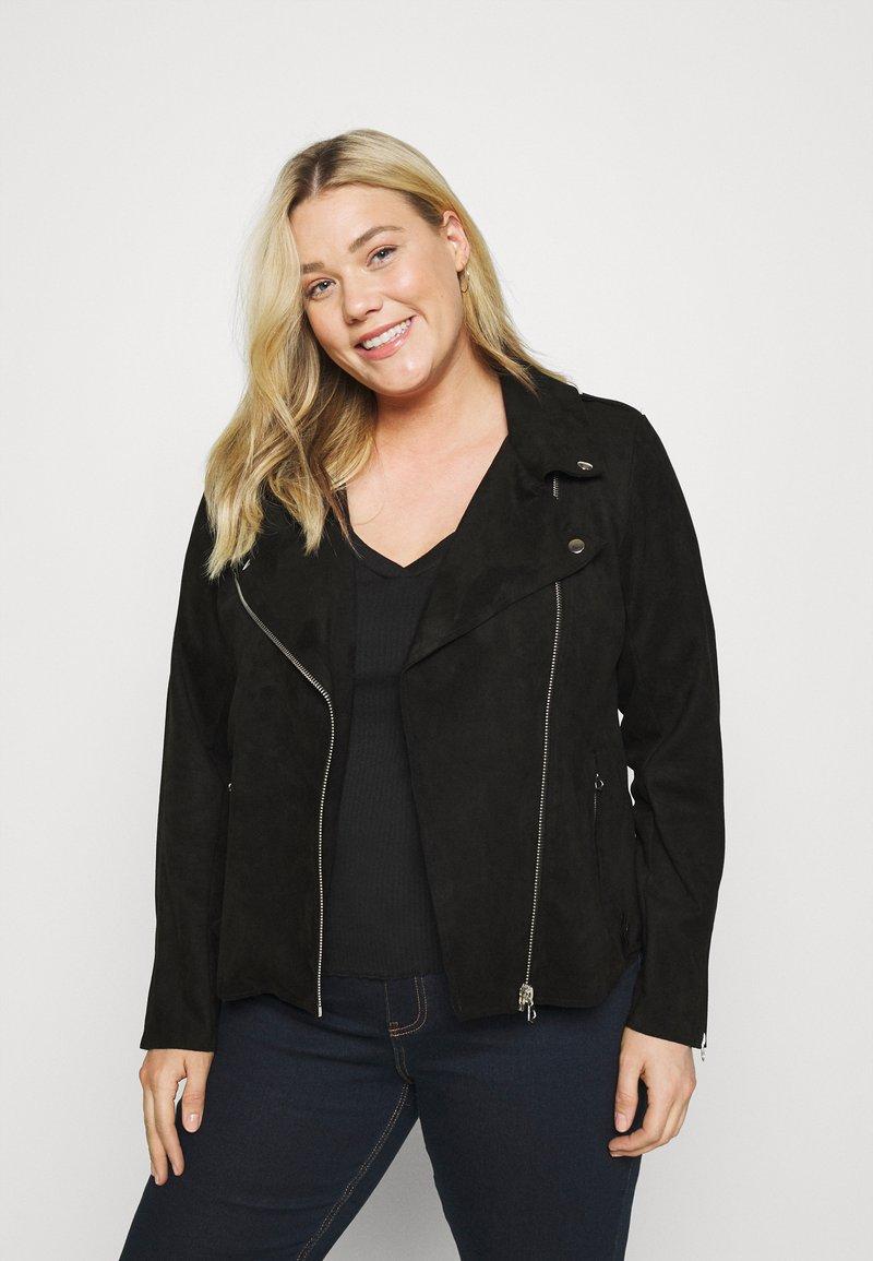 Zizzi - ESUS JACKET  - Faux leather jacket - black