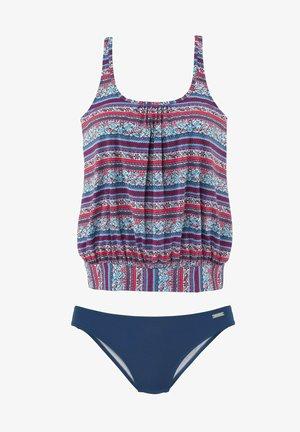 OVERSIZE - Swimsuit - marine/rot