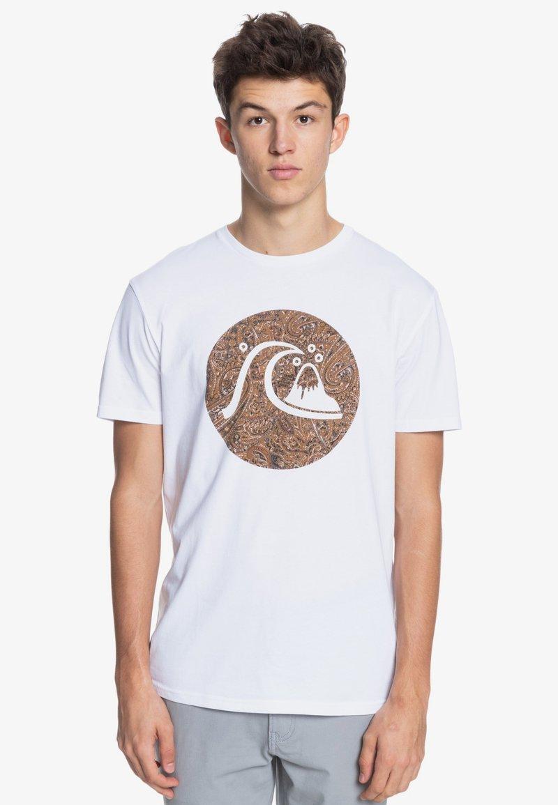 Quiksilver - BUBBLE JAM  - Print T-shirt - white