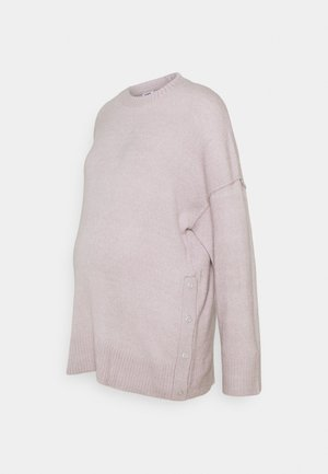 MATERNITY SIDE BUTTON  - Strikkegenser - burnished lilac