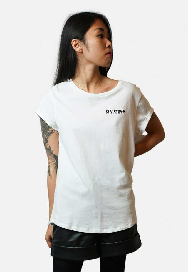CLIT POWER - T-shirt print - white
