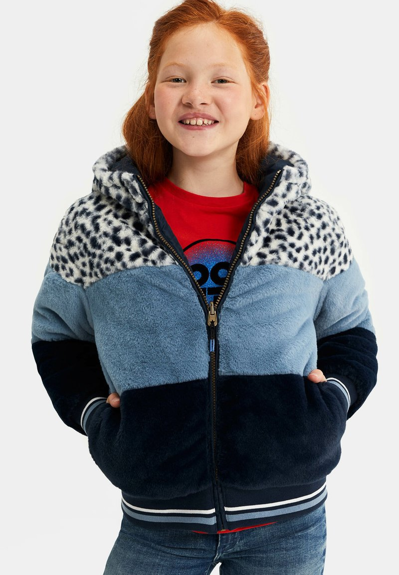 WE Fashion - REVERSIBLE WATERAFSTOTENDE WINTERJAS - Winterjas - dark blue