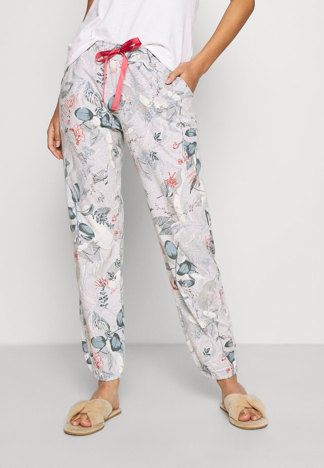 MIX MATCH TROUSERS - Pyžamový spodní díl - medium grey melange