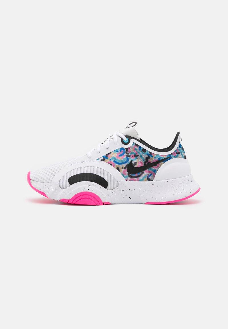 Nike Performance - SUPERREP GO - Sports shoes - white/black/pink blast/baltic blue