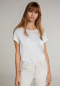 Oui - Basic T-shirt - cloud dancer - 0