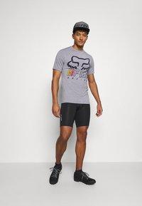 Fox Racing - OVERHAUL TECH TEE - Print T-shirt - grey - 1