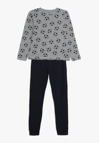 Name it - NKMNIGHTSET FOOTBALL - Pyjama set - grey melange - 0