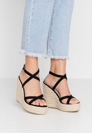 FARRAH - Sandaler med høye hæler - black