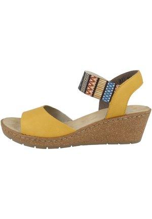 Wedge sandals - maize-multiprint (v19h4-68)
