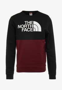 The North Face - CANYONWALL CREW - Felpa - black/deep garnet red - 6