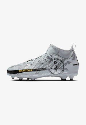 PHANTOM GT ACADEMY DF SE FG/MG FUSSBALL - Moulded stud football boots - pure platinum / metallic silver / black