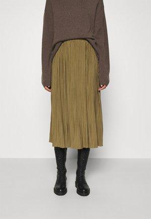 UMA SKIRT - Pleated skirt - gothic olive