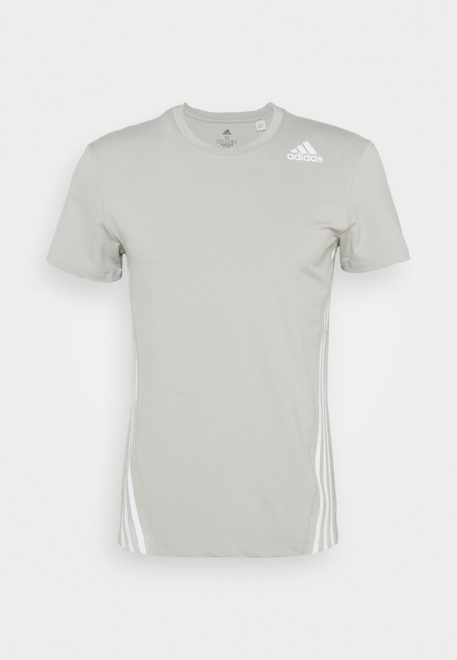 PRIMEGREEN TRAINING SPORTS SHORT SLEEVE TEE - T-shirt con stampa - metal grey