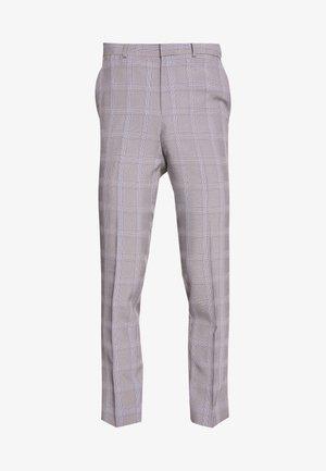 GRAPHIC CHECK - Pantalón de traje - grey