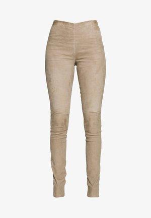 ASTEROID - Pantalon en cuir - beige