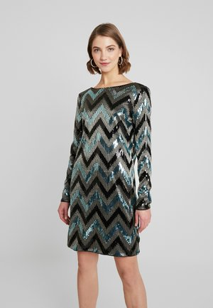 VISPARKY CHEVRON DRESS - Juhlamekko - black