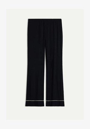 PRETTY FLOWER - Pyjama bottoms - nero/ivory