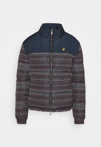 FAIR ISLE REVERSIBLE PUFFER JACKET - Vinterjacka - dark navy