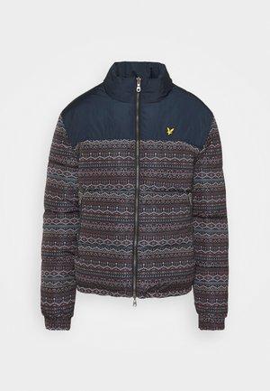 FAIR ISLE REVERSIBLE PUFFER JACKET - Winter jacket - dark navy