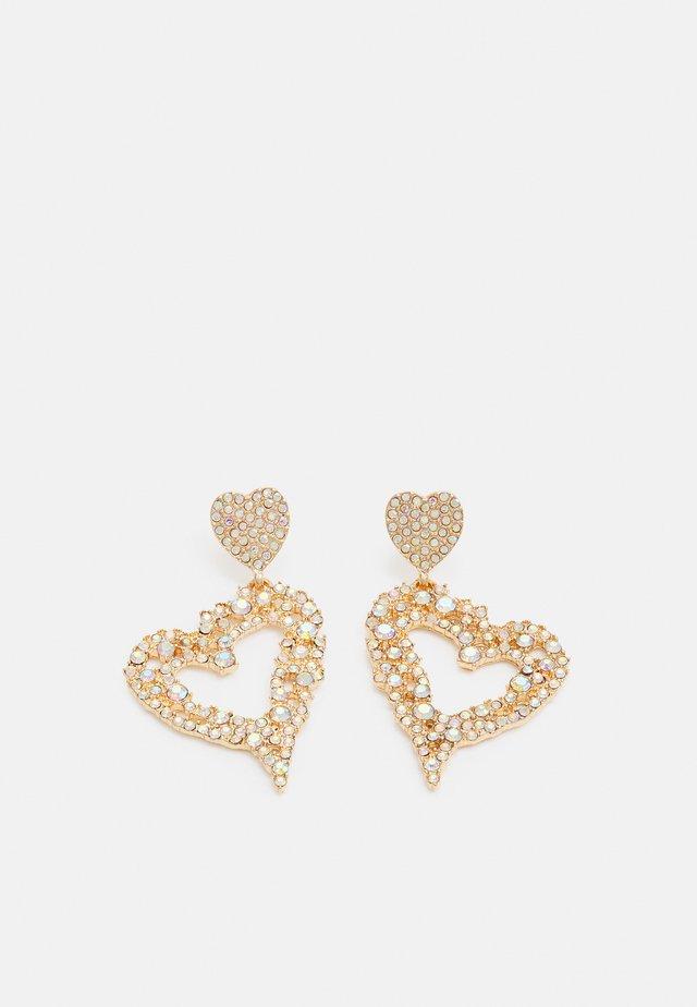 FGCECILIE EARRINGS - Örhänge - gold-coloured/clear
