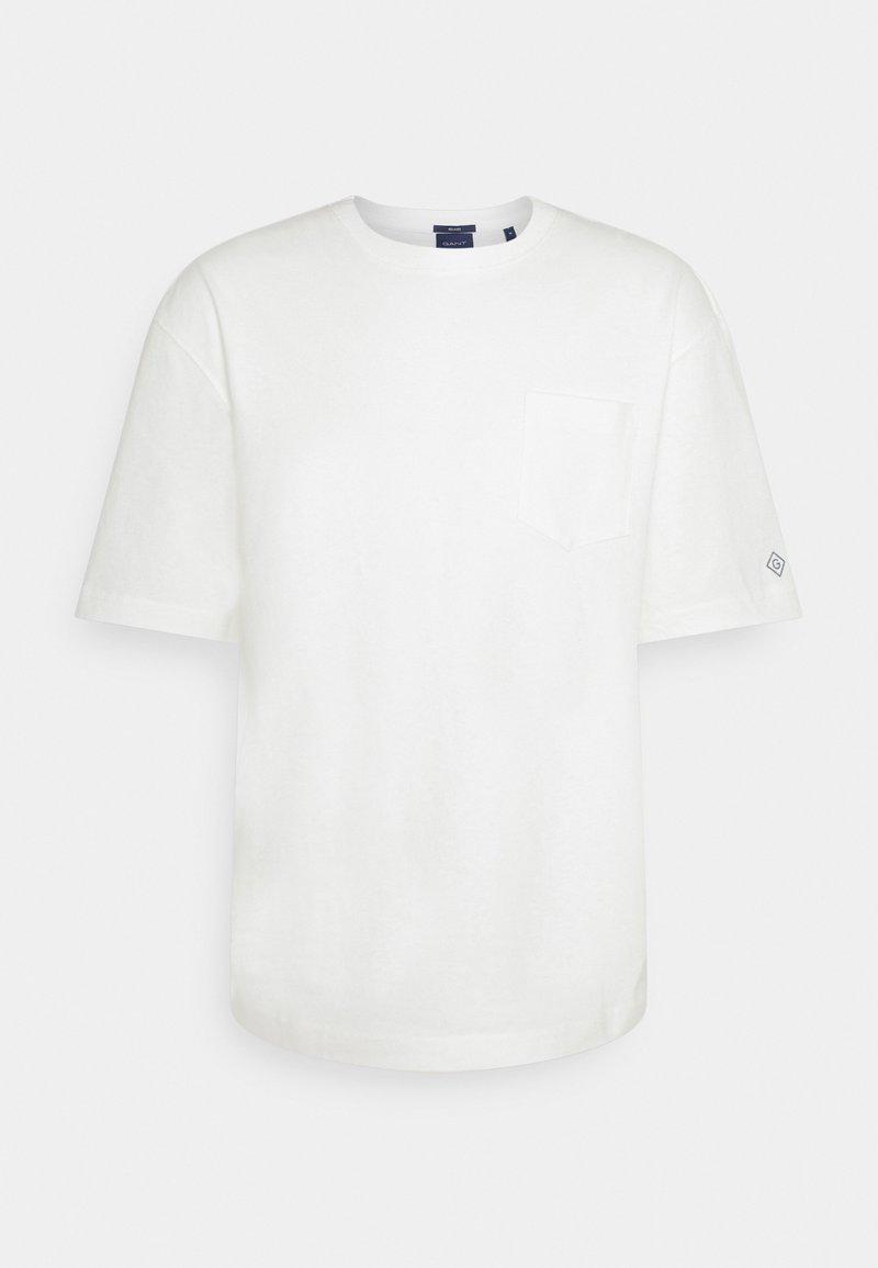 GANT - LOCKER LOOP POCKET - T-shirt - bas - eggshell