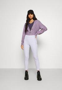 Monki - Trousers - lilac purple dusty light - 1