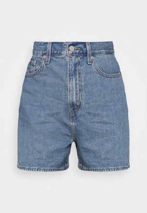 HIGH LOOSE - Shorts vaqueros - blue denim