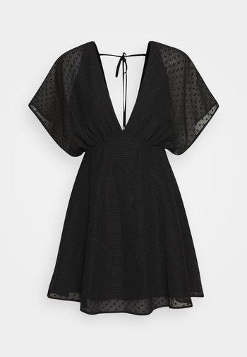 VAAL SHORT DRESS - Day dress - black
