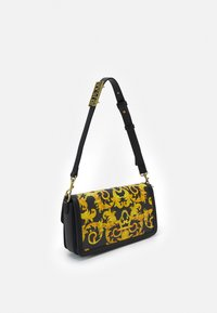 Versace Jeans Couture - LULA BAGUETTE - Handbag - black/dark yellow - 2