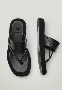 Massimo Dutti - LIMITED EDITION - T-bar sandals - black - 4