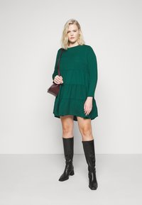 Missguided Plus - TIERED SMOCK DRESS - Day dress - green - 1