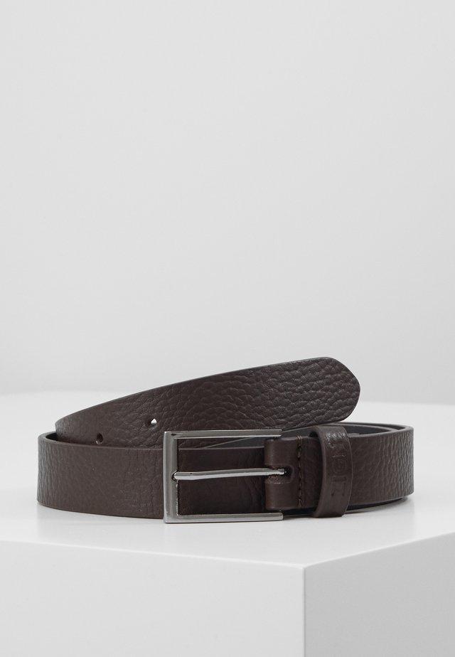 UNISEX LEATHER - Formální pásek - brown