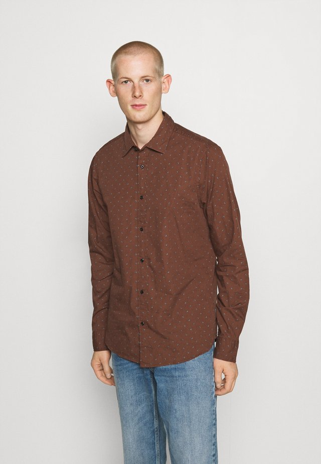 REGULAR FIT - Camisa - brown