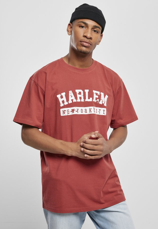 HARLEM - T-shirt con stampa - brick red