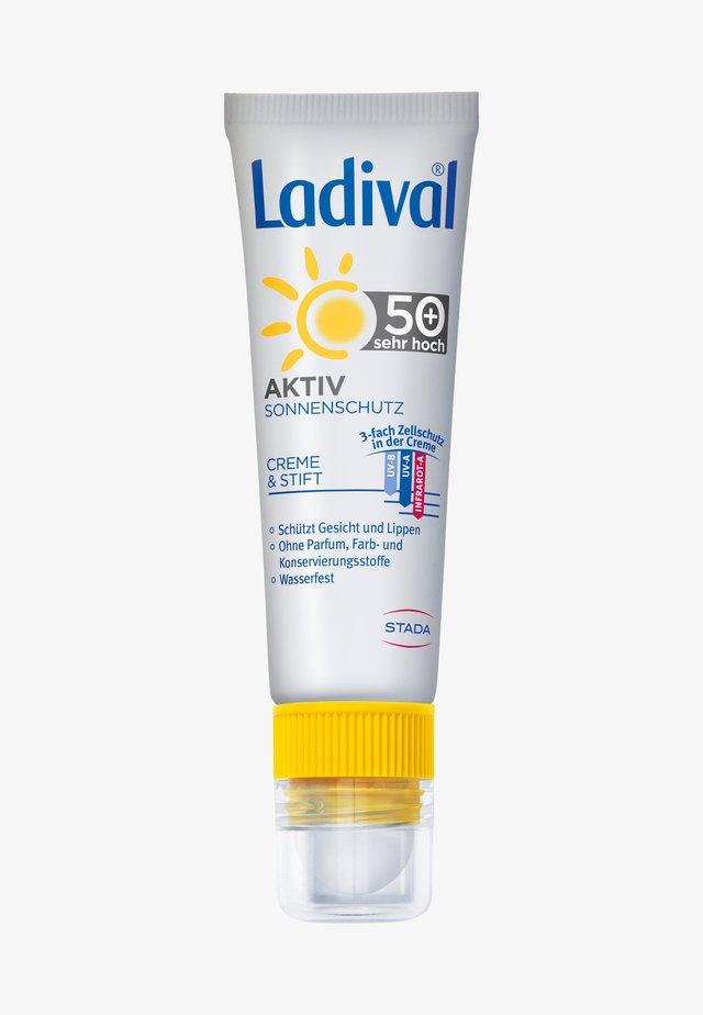SONNENSCHUTZ AKTIV SONNENSCHUTZ FÜR GESICHT UND LIPPEN LSF 50+ - Sun protection - -