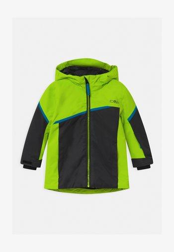BOY FIX HOOD - Ski jacket - yellow fluo