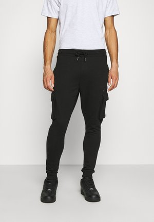 CARGO ZIP JOGGER - Tracksuit bottoms - black