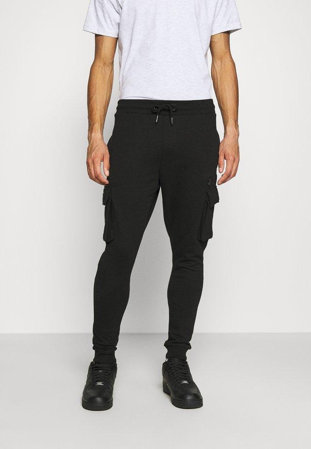 CARGO ZIP JOGGER - Pantalones deportivos - black