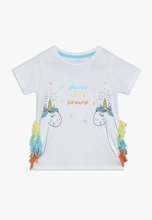 SMALL GIRLS - T-shirt z nadrukiem - optical white