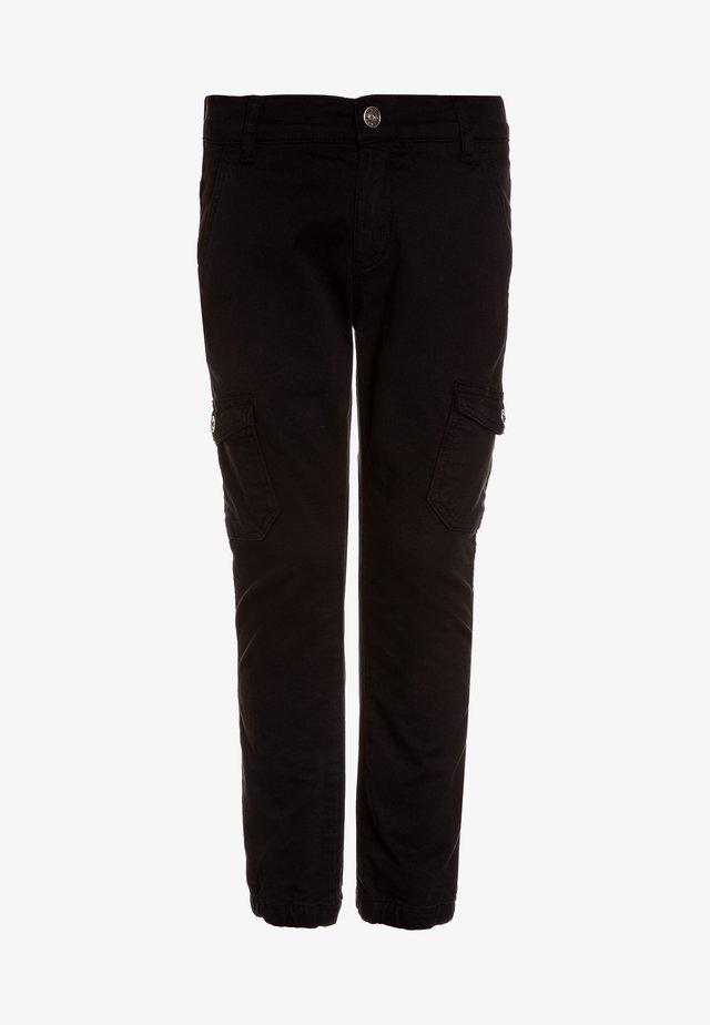 BOYS PANT - Pantalon cargo - schwarz antik
