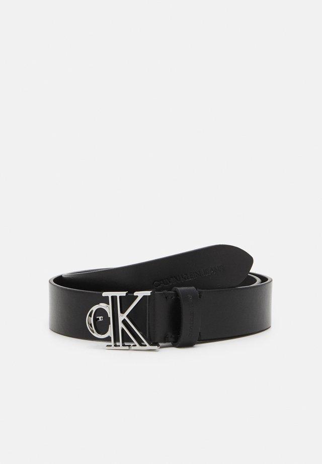 OUTLINE MONO PLAQUE BELT - Cintura - black