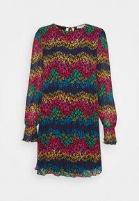 LEOPARD PLEATED MINI - Day dress - multi