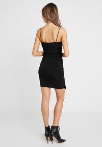 Missguided - SLINKY WRAP OVER MINI DRESS - Shift dress - black - 3