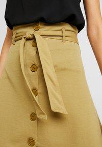 Even&Odd - Falda de tubo - khaki - 4