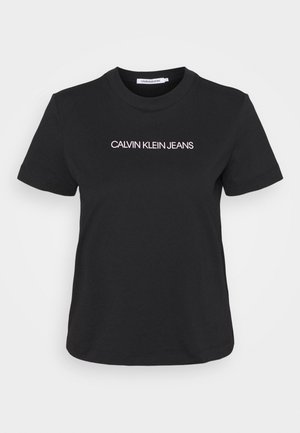 SHRUNKEN INSTITUTIONAL TEE - T-shirt imprimé - black