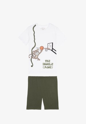 JUNGLE KING - Pyjama set - bianco st.jungle king