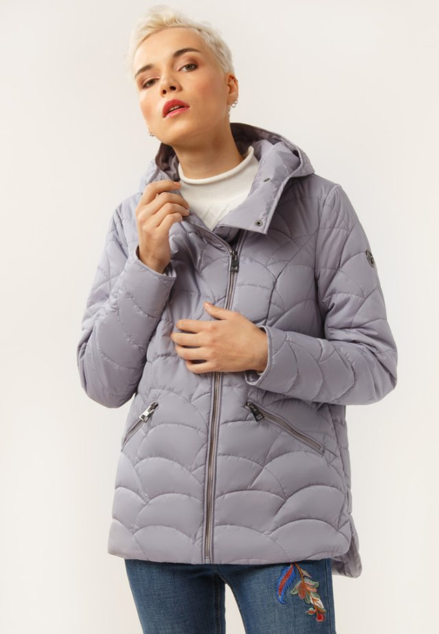 MIT ASYMMETRISCHEM REISSVERSCHLUSS - Winter jacket - grey